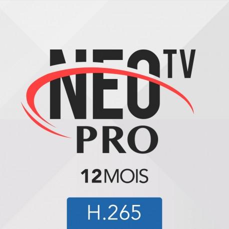 Abonnement code neotv PRO 2 H.265 12 mois