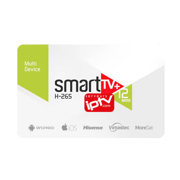 Abonnement Smart tv+ H-265 iptv
