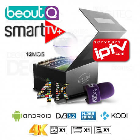 Vision Smart Pro 4K beoutQ H.265 SMART plus IPTV inclus
