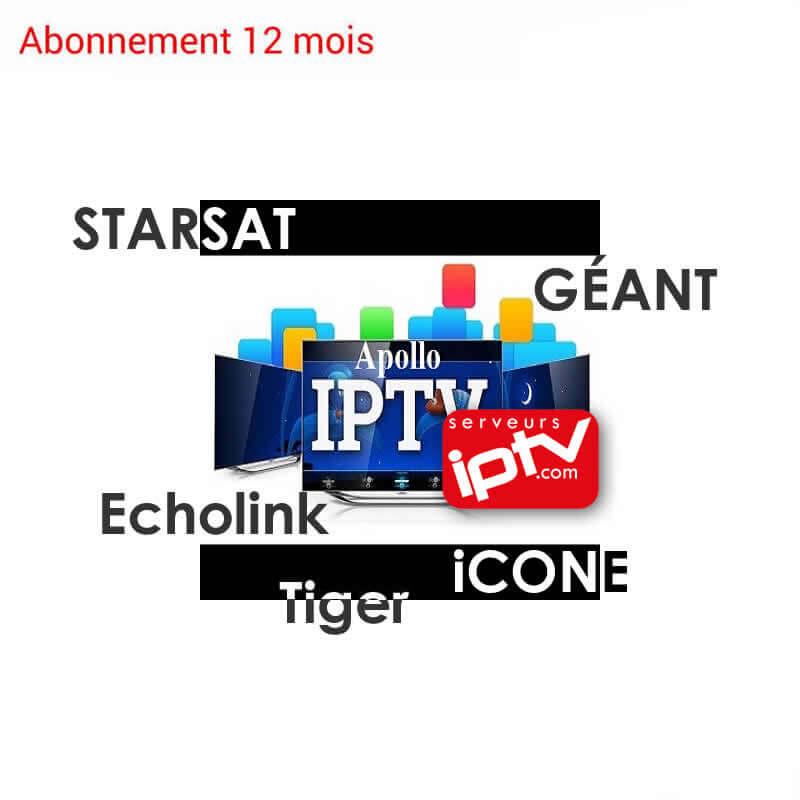 Abonnement Apollo IPTV 12 mois