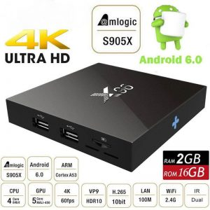 X96 4K TV Box 2GB - 16GB - Quad core Android 6.0 Box Android